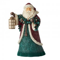 Santa Claus with garland 28 cm Jim Shore 6006596