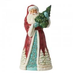 Santa Claus with fir 24 cm Jim Shore 6006606