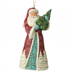 Santa Claus with fir 12 cm Jim Shore 6006608