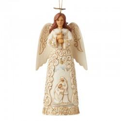 White Angel with Nativity 12 cm Jim Shore 6006617