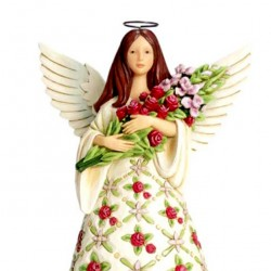 Angel with red roses 24 cm Jim Shore 6007124