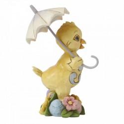 Chick with umbrella 10,5 cm Jim Shore 6008410