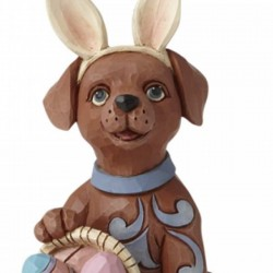 Dog with basket of eggs 10 cm Jim Shore 6008411