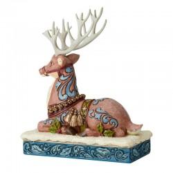 Reindeer sitting on snow 20 cm Jim Shore 6004180