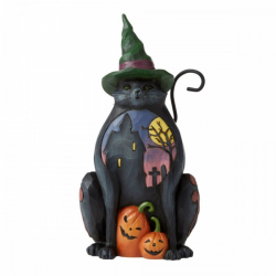 Gatto Halloween 14,5 cm Jim Shore 6006697