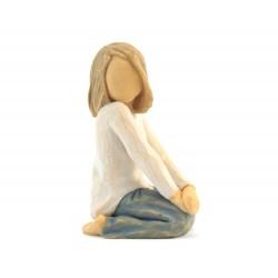 Statuetta Bambina Gioiosa 8 cm Willow Tree 26223