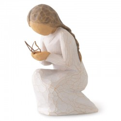 Statuette Girl with butterfly 9.5 cm Willow Tree 28025