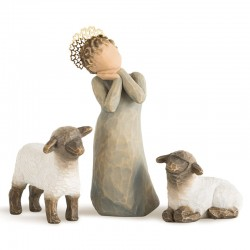 Shepherdess with 2 sheep 13 cm Willow Tree 26442