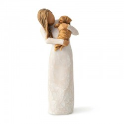 Figurine of adorable girl with dog 19 cm Willow Tree 28039
