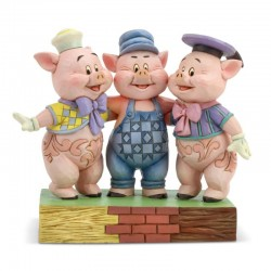 I tre porcellini 12 cm Disney Traditions 6005974