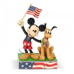 Topolino e Pluto patriottici 18 cm Disney Traditions 6005975