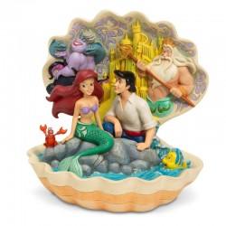 Ariel e Eric nella conghiglia 20 cm Disney Traditions 6005956