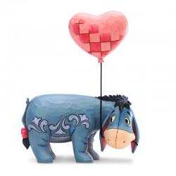 Eeyore con palloncino a cuore 20 cm Disney Traditions 6005965
