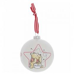 Pallina di Natale Winnie The Pooh 10 cm Disney Enchanting A30245