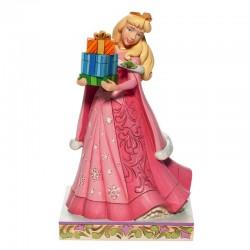 Aurora con doni natalizi 18 cm Disney Traditions 6007066