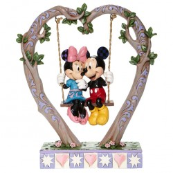 Mickey and Minnie on a swing 22 cm Disney Traditions 6008328