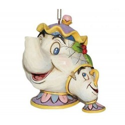 La bella e la bestia Mrs.Bric e Chicco 6,5 cm Disney Traditions A21431