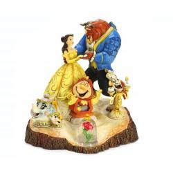 La bella e la bestia su tronco 19 cm Disney Traditions 4031487