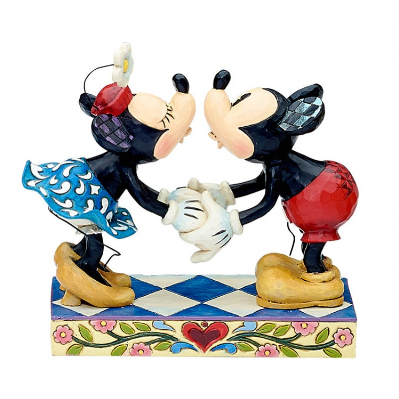 Topolino E Minnie Il Bacio 16 Cm Disney Traditions 4013989