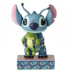 Stitch con la rana 10 cm Disney Traditions 4059741
