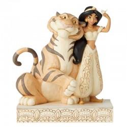 Jasmine e Raja con abito bianco 19 cm Disney Traditions 6002817