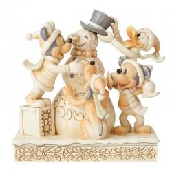 Topolino con pupazzo di neve bianco 15 cm Disney Traditions 6002828