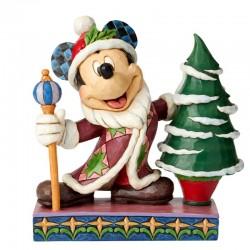 Topolino Re con albero di Natale 19 cm Disney Traditions 6002831