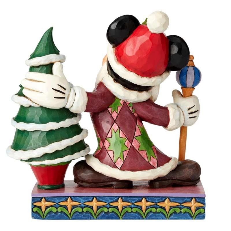 Addobbi Natalizi Disney.Topolino Re Con Albero Di Natale 19 Cm Disney Traditions 6002831
