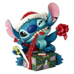Stitch con regalo di Natale 13,5 cm Disney Traditions 6002833