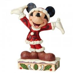 Topolino Natalizio 12 cm Disney Traditions 6002842