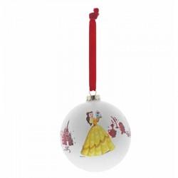 Pallina di Natale La bella e la Bestia 10 cm Disney Enchanting A29683