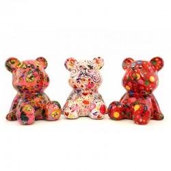 Bear Cyril piggy bank 15x17x16 cm Pomme Pidou