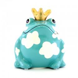 Frog Freddy Clouds piggy bank 9x10x8 cm Pomme Pidou