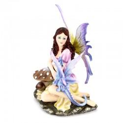 Fata Vania con drago 19 cm Les Alpes