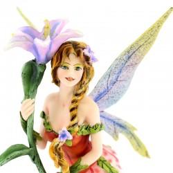 Fairy Vivian standing with flower 27 cm Les Alpes