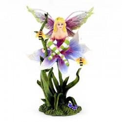 Fata Sala su fiore con api 21 cm Les Alpes