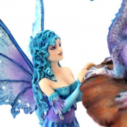 Fairy Vera with dragon 22 cm Amy Brown Les Alpes