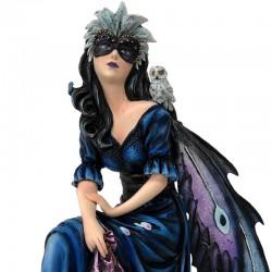 Almeda masked fairy with owl 42 cm Les Alpes