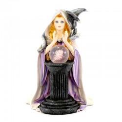 White witch Jadis with crystal ball 26 cm Les Alpes