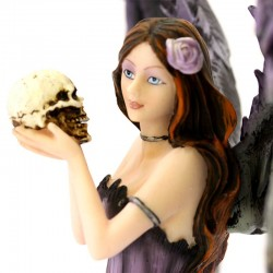 Guardian Angel Anisha with ravens and skull 35 cm Les Alpes