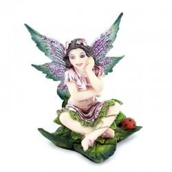 Fairy sitting on leaf  6.5 cm Les Alpes Mini