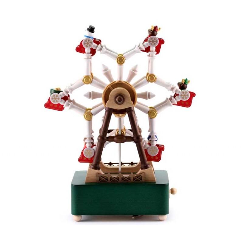 Christmas Ferris Wheel Music Box.Music Box Christmas Ferris Wheel 18x24 Cm Wooderful Life