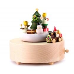 Carillon in legno Treno di Natale 13,5 cm Wooderful Life