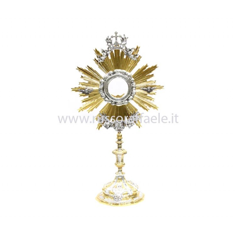 melted baroque monstrance with sheaves 60 cm
