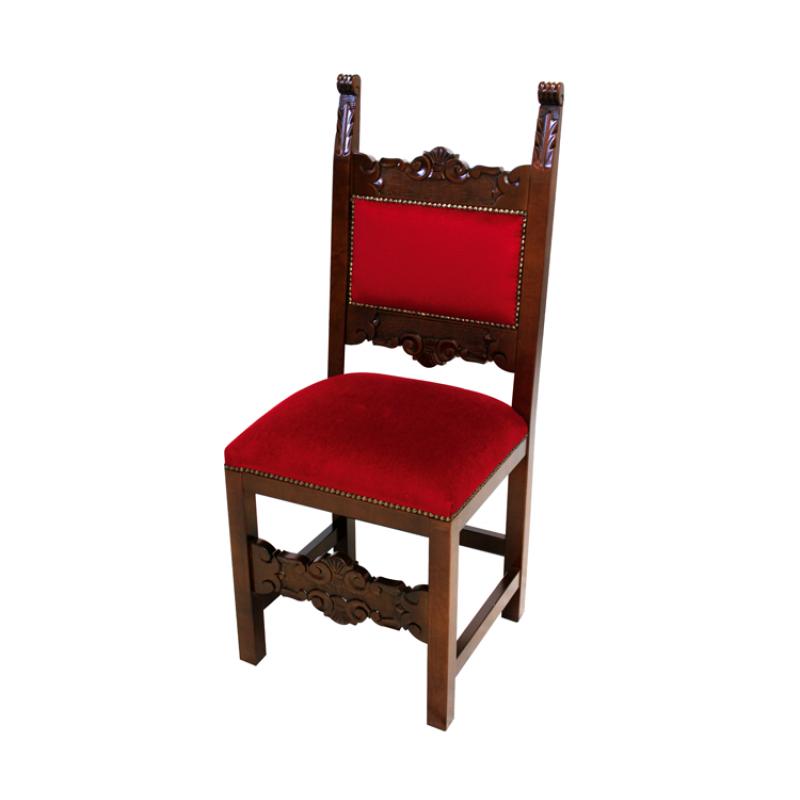 Sedia fratina legno intagliato rivestimento velluto for Rivestimento sedie