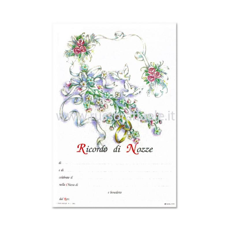 Pergamena Matrimonio Simbolico : Pergamena matrimonio rose e fedi oro a caldo cm