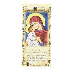 Family Blessing Golden Virgin with Child 22x10 cm