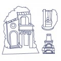 Huts, Nativity Scenes, Wells, Fountains and Furnaces