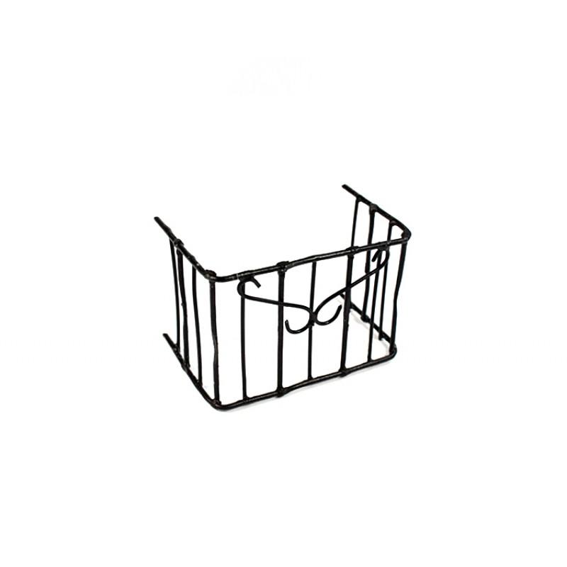 Ringhiera Balcone in ferro per presepe 4x5,5 cm