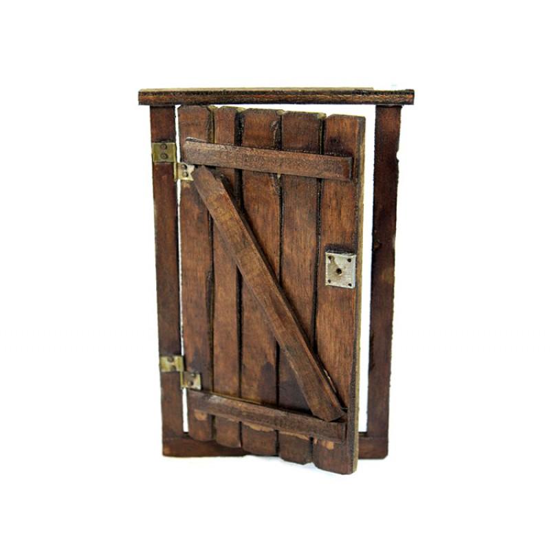 Porta per presepe in legno e ferro 18x11 cm